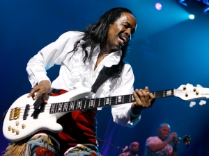 Verdine White performs with Earth, Wind & Fire at the Seminole Hard Rock Live Arena in Hollywood, Florida.